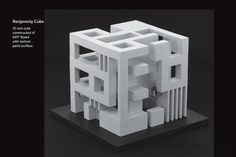 An architectural student design project that demonstrates a balanced reciprocity of solid and void (. The design uses _seed shapes_ that are combined to form a 10 inch square cube. The design sh Cubic Architecture, Concept Models Architecture, Architecture Student, Concept Architecture, Architecture Design, Module Design, Cube Design, 3d Modelle, Arch Model