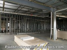 Sam & Paul Drywall Inc. - Insulation, Drywall, Metal Studs, Acoustic Ceilings, Custom Painting and Finished by Custom Painting Division - Sam & Paul Industries Drywall Contractors, Office Interiors, Interior Office, Custom Paint, Insulation, Industrial, Ceiling, Construction, Pictures