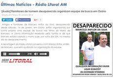 [Áudio] Familiares de homem desaparecido organizam