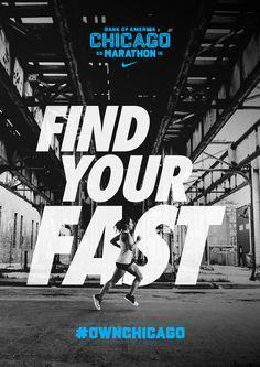 Chicago Marathon 15 - SouthSouthWest. Branding & design, Melbourne. Design Corporativo, Layout Design, Logo Design, Brand Design, Design Ideas, Nike Design, Identity Design, Chicago Marathon, Marathon Logo