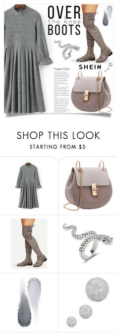 """""""Over the knee boots!"""" by samra-bv ❤ liked on Polyvore featuring Clé de Peau Beauté and Topshop"""