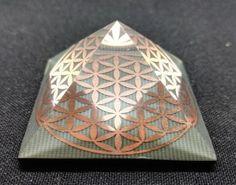 Sacred Geometry ORGONE PYRAMID Spiritual Art Reiki orgonite
