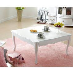 折れ脚式猫脚テーブル Lisana〔リサナ〕 75×75cm テーブル ローテーブル 姫系 家具ポイント【楽天市場】