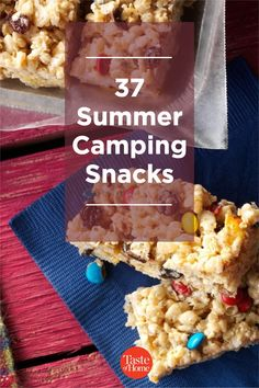 If you're planning on spending time in the great outdoors, be sure to pack a few of these camping snacks that are sure to satisfy any cravings. Yummy Snacks, Snack Recipes, Dessert Recipes, Summer Desserts, Fun Desserts, Mustard Pretzels, Bean Brownies, Camping Snacks, Granola Bars