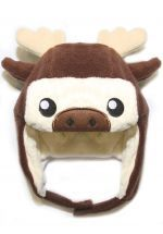 crazyheads Kids Infant and Toddler Moose Trapper Hat with cute face - SALE $17.49