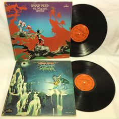 Uriah Heep Demons and Wizards + The Magician's Birthday Vinyl Record LP Lot of 2