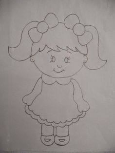 Art Drawings For Kids, Outline Drawings, Pencil Art Drawings, Drawing For Kids, Easy Drawings, Applique Patterns, Quilt Patterns, Coloring Books, Coloring Pages