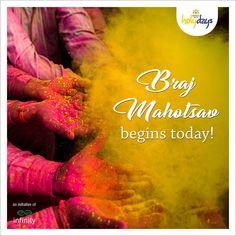 #BrajMahotsav begins today with Gokul Holi in Raman Reti. #KrishnaBhumiHolydays #LandOfKrishna