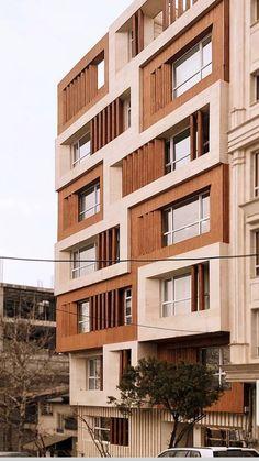 Residential Building Design, Architecture Building Design, Brick Architecture, Building Facade, Facade Design, Door Design, Modern Exterior, Interior Exterior, Exterior Design