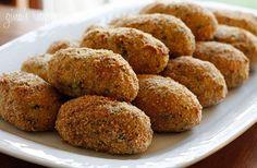 Baked Turkey Croquettes | Skinnytaste Use mashed cauliflower instead of potatoes
