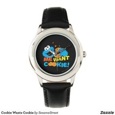 Shop Cookie Wants Cookie Wristwatch created by SesameStreet. Sesame Street Characters, Presents For Kids, Small Faces, Telling Time, Watch Faces, Kid Names, Stainless Steel Watch, Cool Gifts, Kids Fashion