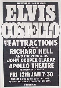 Elvis Costello and The Attractions Tour 1979, Richard Hell