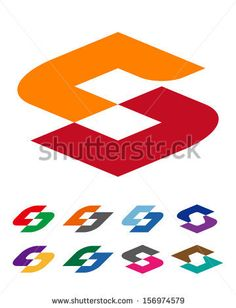 """Design vector logo template. """"c"""", """"d"""", """"s"""" letters icon set. You can use in the commerce, financial, traffic, construction and communication..."""