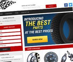 Auto Part Web Design by QColors http://www.qcolorswebdeign.com/web-design   See more on our site. Visit us.