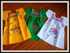 Handmade Mexican Embroidered Baby Dress