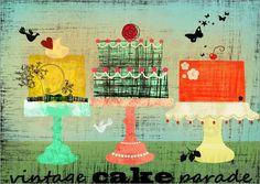 vintage cake parade - © Elisandra