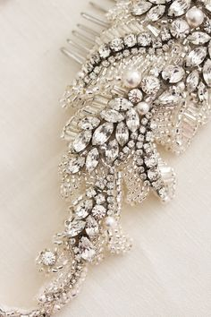 Bespoke for Gemma_rhinestone bridal headpiece by Percy Handmade