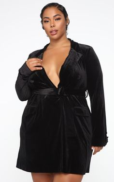 Shop saving the day blazer mini dress - black from the latest Fashion Nova collection Fashion Nova Plus Size, Fashion Nova Models, Plus Size Dresses, Plus Size Outfits, Sexy Women, Curvy Women, Save The Day, Plus Size Model, Cut And Style
