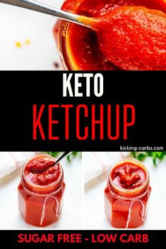 You will fall in love with this homemade Keto Ketchup Recipe! It is the perfect way to enjoy your favorite comfort foods. This sugar free recipe is perfect for your keto diet! I love it on burgers, meat loaf, and in sloppy joes. Once you try it you may never go back to store bought! #kickingcarbs #LowCarb #KetoRecipes #KetoKetchup #SugarFree Sugar Free Recipes, Low Carb Recipes, Real Food Recipes, Low Carb Ketchup, Keto Sauces, Meat Loaf, Low Carb Keto, Comfort Foods, Burgers