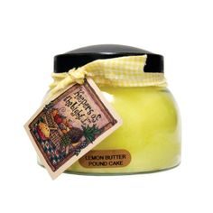 A Cheerful Giver Lemon Butter Pound Cake 22 oz. Candle Holder Set, Tea Light Holder, Glass Jars, Candle Jars, Butter Pound Cake, Cakes For Sale, Baby Jars, Candle In The Wind, Lemon Butter