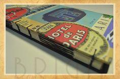 Hand bound book - Bookbinding - Encadernação artesanal -Estúdio Brigit - Encadernação Artesanal e Artística: Sketchbook Paris (4)