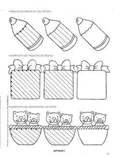 Grafimanía 1 - Betiana 1 - Picasa Web Albums: Preschool Writing, Preschool Learning Activities, Home Learning, Kindergarten Games, Kids Math Worksheets, Tracing Worksheets, Pre Writing, Writing Skills, Drawing For Kids