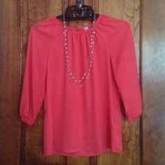 SALE Old Navy Coral Blouse - XS Old Navy Coral Blouse - XS. Like new condition. Old Navy Tops Blouses