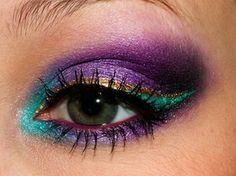 Mardi Gras look by Bri Wolz. K Darby we need to do this the next time we paint together