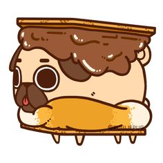 The official Puglie Pug website and store! Cute Dog Drawing, Cute Animal Drawings, Kawaii Drawings, Cute Drawings, Food Kawaii, Kawaii Art, Pug Wallpaper, Kawaii Wallpaper, Kawaii Doodles