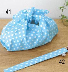 あずま袋をアレンジした便利なお弁当入れ&箸入れの作り方(布小物) | ぬくもり