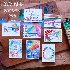 Love Wins - Limited Edition - Wisdom Cards Set of 8 by silvertreeart on Etsy