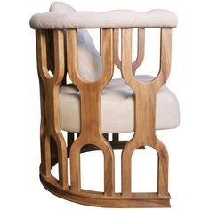 Octopus Club Chair, Dark Walnut - occasional chairs