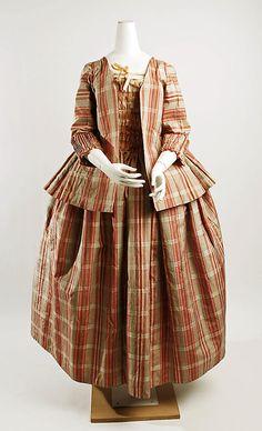 Robe à la Française, 1770-90, French, silk
