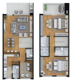 Shipping Container House Plans Contain Containerideas - Home Decor - Marecipe Modern House Plans, Small House Plans, House Floor Plans, Loft Floor Plans, Layouts Casa, House Layouts, Narrow House, Duplex House, Apartment Plans