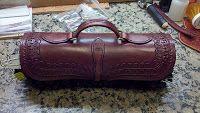 The Grain Side Up! Round handbag
