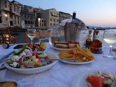 Probably the best dinning experience I have ever had, restaurant was pretty much on the water #crete #chania