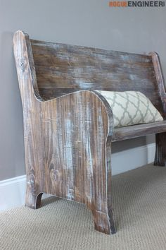 DIY Church Pew Plans - DIY Tutorial | rogueengineer.com #ChurchPewPlans #DiningroomDIYplans
