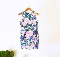 Vintage Rose Minidress / Vintage Floral Summer by thehappyforest