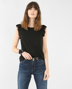 T-shirt volant tulle
