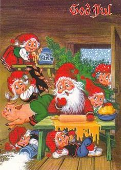Merry Christmas/Best Wishes in Swedish Christmas In Heaven, Swedish Christmas, Whimsical Christmas, Christmas Fun, Vintage Christmas, David The Gnome, Elves And Fairies, Buddy The Elf, Picasa Web Albums