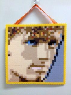 The Hunger Games Peeta Mellark Perler Bead Hanging by PixelFolk, $12.00 created by me!