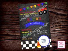MONSTER TRUCK BIRTHDAY Monster Truck Race by BlissfulBethDesigns
