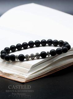 Le bracelet pour Homme Chicago de CASTELD Une création unique #bracelethomme #tendance #bijoux #faitmain #homme #cadeau #love #perle #argent#Casteld https://www.casteld.com/bracelets-hommes-c102x3203553