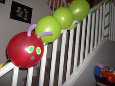 Very Hungry Caterpillar Party balloons #veryhungrycaterpillar #balloons