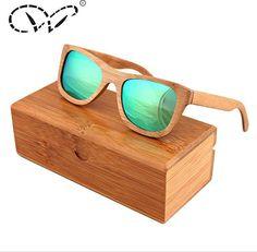 1bc3bd90f3 Unisex Bamboo UV Polarized Sunglasses With Box - Bargain Fusion - 1 Wooden  Sunglasses