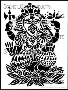 Ganesha Deity Stencil | Jessica Sporn | StencilGirl Products