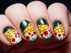 The Wonderful Wizard of Oz nail art by @chalkboardnails