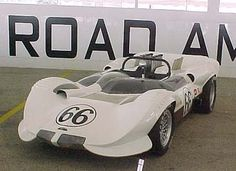 1964 Chaparral 2A: was the first race cars with fiberglass bodies, aluminum frame, and with two speed automatic gearbox  The Chevrolet V8 were equipped with four Weber Carburetors and higher compression heads.