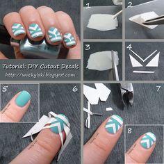 DIY cutout decals! nails