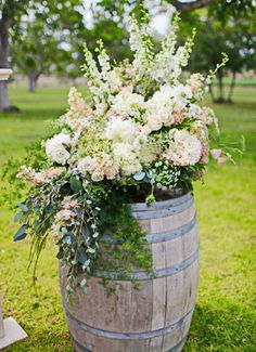 "Outdoor wedding ideas done here at The Walnut Grove venue in Moorpark, Ventura county ca located behind underwood family farm. www.walnutgroveweddings.com photographed September 2014 by Kimberlee Miller photography with ""unique floral designs"" gorgeous displays!"